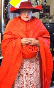 Burke-Galero in real cardinal hat